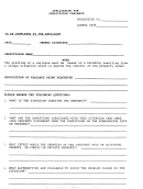 Application Form For Subdivision Variance