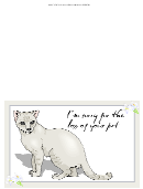I'm Sorry For The Loss Of Your Pet Greeting Card Template