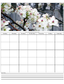 Flowers 7 Day Weekly Planner Template