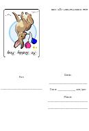 Pet Birthday Party Invitation Template