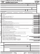 Form 541-qft - California Income Tax Return For Qualified Funeral Trusts - 2008