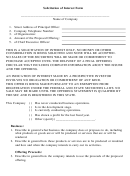 Solicitation Of Interest Form Lined