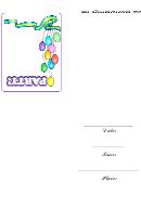 Balloon Party Invitation Template