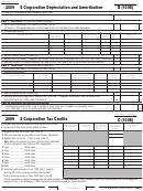 California Schedule B (100s) - S Corporation Depreciation And Amortization - 2009
