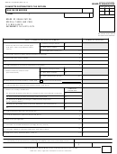 Form Boe-501-cd - Cigarette Distributor's Tax Return - Board Of Equalization - California