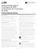 Instrucciones Para El Formulario W-3pr - 2009