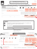 Form Dr-602 - Intangible Personal Property Tax - Application For Extension Of Time To File Return