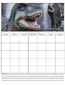 Dinosaur Weekly Planner Template