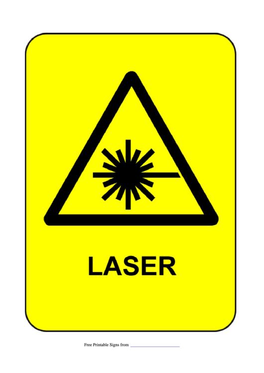 Laser Warning Sign Template