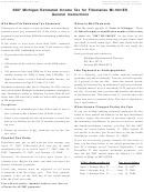 Form Mi-1041es - Estimated Tax Computation Worksheet