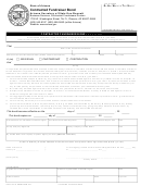 Form Sosbscfb - Contracted Fundraiser Bond
