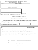 Form Bcs/cd-521 - Resignation Of Resident Agent