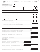 Form 41s - Idaho S Corporation Income Tax Return - 2004