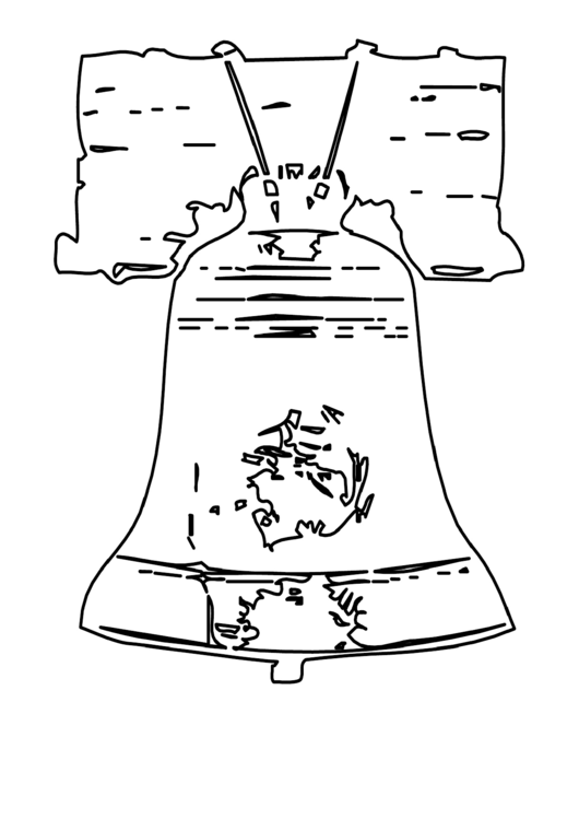 Bell Patriotic Coloring Sheet