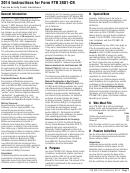 Instructions For Form Ftb 3801-cr - Passive Activity Credit Limitations - 2014