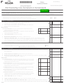 Form Nol-85a - Application Of Net Operating Loss Carryback Or Carryforward
