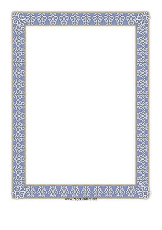 Document Border Template Printable pdf