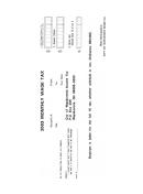 Monthly Wage Tax Form - City Of Wapakoneta, 2003