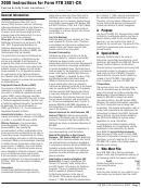 Instructions For Form Ftb 3801-cr - Passive Activity Credit Limitations - 2008