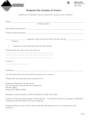 Request For Copies Of Forms - Montana Department Of Revenue