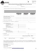 Montana Form Tdd - Telecommunications Service Fee Return