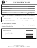 Application For Extension Of Time To File Lansing Income Tax Return Form