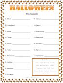 Halloween Word Jumble Template