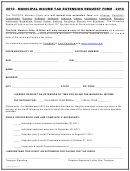 Municipal Income Tax Extension Request Form - The Tricota Member Cities - 2010