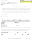 Form Sdat - 4b1 - Application For Exemption For Surviving Spouses Of Disabled Veterans Receiving Dic Benefits