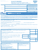 Form Ct-1040 Ext - Application For Extension Of Time To File Connecticut Income Tax Return For Individuals - 2004