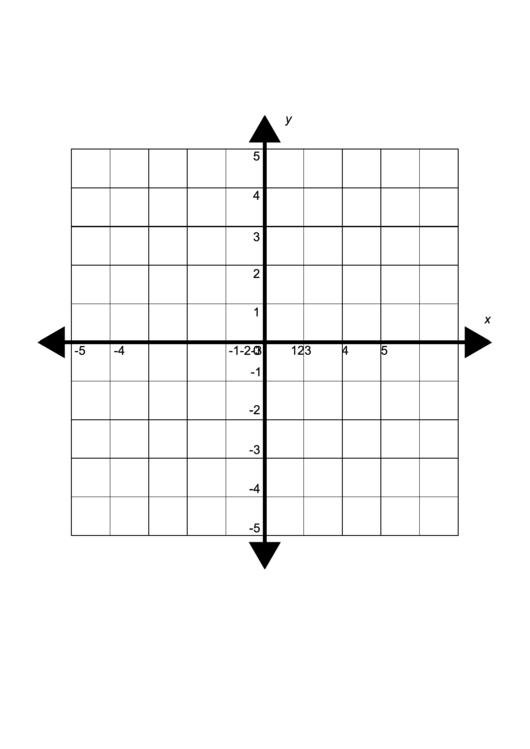 Small Four Quadrant Cartesian Grid Paper Template Printable pdf
