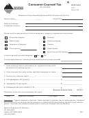 Montana Form Cct - Consumer Counsel Tax