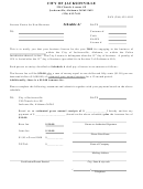 Schedule A - License Notice For New Business