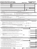 Form 540nr - California Nonresident Or Part-year Resident Income Tax Return - Short Form - 2009