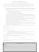Transfer Of Credit Request Form