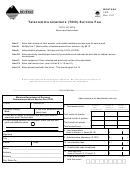 Montana Form Tdd - Telecommunications (tdd) Service Fee