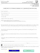 Form Ct-9 - Complaint To Attorney General On A Nonprofit Organization - Department Of Justice (1999)