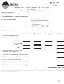 Form Rtet - Retail Telecommunication Excise Tax