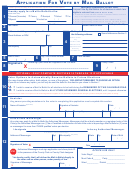 Application For Vote By Mail Ballot Form - New Jersey Division Of Elections