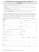 Authorization Agreement For Direct Deposit Of Paycheck Form