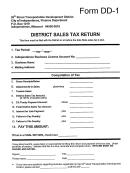 Form Dd-1 - District Sales Tax Return