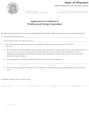 Application For Certificate Of Withdrawal Of Foreign Corporation 1999