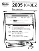 Instructions For 1040 Ez Form - Internal Revenue Service - 2005