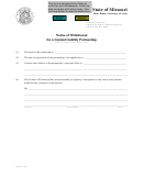 Form Llp8 - Notice Of Withdrawal For A Limited Liability Partnership - 2002