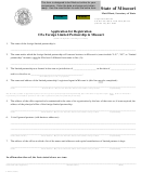 Form Lp 42 - Application For Registration Of A Foreign Limited Partnership In Missouri - 2002