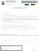 Form Corp.49 - Application For Certificate Of Withdrawal Of A Foreign Nonprofit Corporation