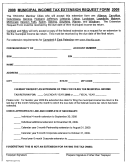 Municipal Income Tax Extension Request Form 2008