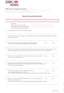 Alcohol Usage Questionnaire Form