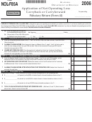 Form Nol-f85a - Application Of Net Operating Loss Carryback Or Carryforward Fiduciary Return - 2006