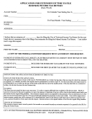 Form Tw-42 - Application For Extension Of Time To File Business Income Tax Return